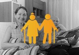 Icon von 2 älteren Personen - Altersvorsorge