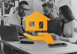 Icon von Haus in einer Hand - Haushaltsversicherung